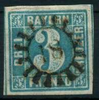BAYERN MÜHLRADSTEMPEL AUF Nr 2II GMR -18 ZENTR- X875A12 - Bayern