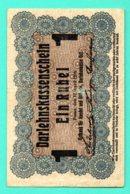 GERMANY LITHUANIA POLAND 1 RUBLE 1916 R122 POSEN 581 - [ 9] Territori Tedeschi Occupati
