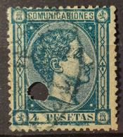 SPAIN 1875 - Canceled - Sc# 220 - 4Pts - 1875-1882 Königreich: Alphonse XII.