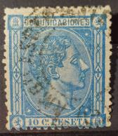 SPAIN 1875 - Canceled - Sc# 214 - 10c - 1875-1882 Königreich: Alphonse XII.