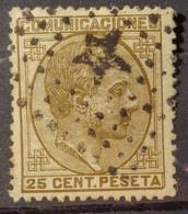 SPAIN 1878 - Canceled - Sc# 236 - 25c - 1875-1882 Königreich: Alphonse XII.
