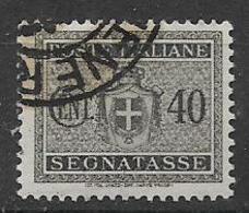 REGNO D'ITALIA LUOGOTENENZA 1945 SEGNATASSE STEMMA SENZA FASC IFIL.RUOTA  SASS. 89 USATO VF - 1944-46 Lieutenance & Humbert II