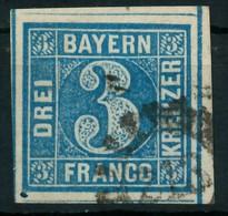 BAYERN MÜHLRADSTEMPEL AUF Nr 2II GMR 213 Gestempelt X87E576 - Bayern