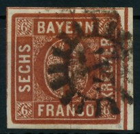 BAYERN MÜHLRADSTEMPEL AUF Nr 4II GMR 217 ZENTR- X87E5B6 - Bayern