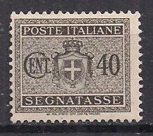 REGNO D'ITALIA LUOGOTENENZA 1945 SEGNATASSE STEMMA SENZA FASC IFIL.RUOTA  SASS. 89 MNH XF - 1944-46 Lieutenance & Humbert II