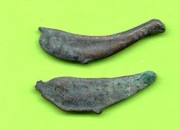 Sarmatia OLBIA Cast Proto Money DOLPHIN 5th BC Ukraine Crimea Russland 2 Pc. 222 - Greche