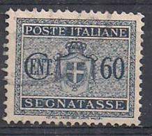 REGNO D'ITALIA LUOGOTENENZA 1945 SEGNATASSE STEMMA SENZA FASC IFIL.RUOTA  SASS. 91  USATO VF - 1944-46 Lieutenance & Humbert II