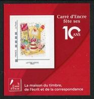 "MINI-COLLECTOR De 2019 Avec Timbre Adhésif ""CARRE D'ENCRE FÊTE SES 10 ANS - ID Timbre LETTRE VERTE"" - Frankrijk"