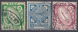 IRLANDA - 1922/1924 - Lotto Di 3 Valori Usati: Yvert 40, 45 E 48, Come Da Immagine. - Usati