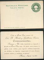 Mexico Postal Card MEPSI #PC104 Die I Preprinted 1901 - Mexique