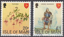 ISOLA DI MAN - 1978 - Lotto Di 2 Valori Usati: Yvert 111 E 114, Come Da Immagine. - Isola Di Man