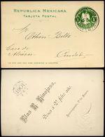 Mexico Postal Card MEPSI #PC104 Type I Preprinted NEW YEAR 1901 Used CDMX 1900 - Mexique