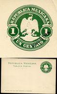 Mexico Postal Card MEPSI #PC104S MUESTRA SPECIMEN 1900 - Mexique