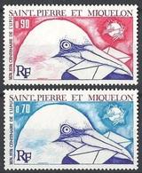 1974St Pierre And Miquelon496-497Birds14,00 € - Albatrosse & Sturmvögel