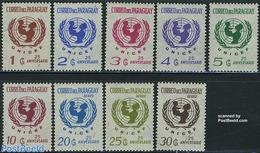 Paraguay 1972 UNICEF 9v, (Mint NH), History - Unicef - Paraguay