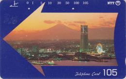 Télécarte Japon / NTT 251-296 B - Montagne MONT FUJI - Mountain & Yokohama Amusement Park Japan Phonecard - 407 - Volcans