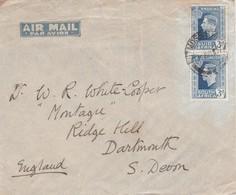 South Africa, 1937, Air Mail, 3d, WITMOSS STATION 3 JUN 37 > England - Afrique Du Sud (...-1961)
