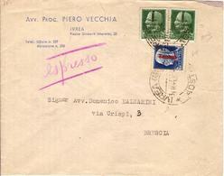 (St.Post.).R.S.I.1944.-25c Verde,tir. Di Torino (491) Due Val. + L.1,25 Azzurro (495) Su Busta Del 31-8-44 (180-15) - 4. 1944-45 Sozialrepublik