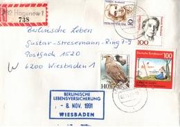 ! 1991 Einschreiben Aus Hagenow, Mecklenburg, R-Zettel - [7] Repubblica Federale