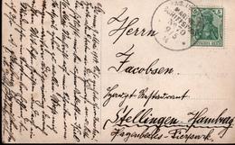 ! 1914 Schiffspost, Marine Schiffspoststempel No.70, SMS Hohenzollern, Genua, Nach Hamburg Stellingen Hagenbeks Tierpark - Allemagne