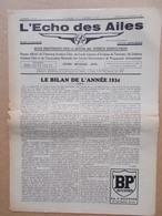 AVIATION  L'ECHO DES AILES  REVUE BELGE  1934  N° 52 - Aviation
