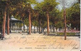 Roanne (Loire) Promenades Populle Vers Le Kiosque à Musique - Editions Idéal - Carte Animée N° 5031 - Roanne