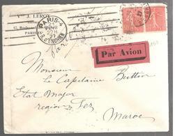 25988 - Par Avion Pour La Maroc 1927 - Marcophilie (Lettres)
