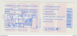 Carnets Marianne DeLAMOUCHE, 10 Timbres , N° 3744 C 6 - Carnets