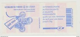 Carnets Marianne De LAMOUCHE, 10 Timbres , N° 3744 C 9 - Carnets