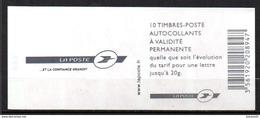 Carnets Marianne De LAMOUCHE, 10 Timbres , N° 3744 C 8 - Carnets