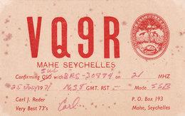 Maye Seychelles QSL Amater Radio 1970s Card - QSL-Kaarten