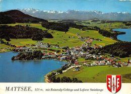 Mattsee Mit Reiteralp Gebirge Und Loferer Steinberge Lake Panorama Postcard - Autres