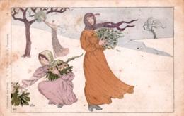 Collection Des Cent - Illustrateur M.P VERNEUIL- Femmes Au Gui - Künstlerkarten