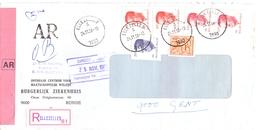 Omslag Enveloppe - Aangetekend Recommandé - Stempel Cachet Ellezelles - 1988 - Ganzsachen