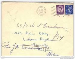 GRANDE BRETAGNE, LETTRE 1957. (FL58) - Lettres & Documents