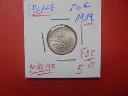 FRANCE 50 CENTIMES 1912 ARGENT (A.3) - G. 50 Centimes