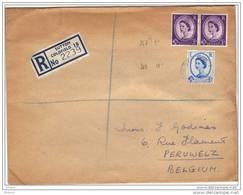 GRANDE BRETAGNE, REGISTERED LETTER, 1956. (JL31) - Lettres & Documents