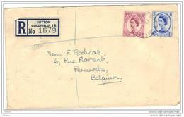 GRANDE BRETAGNE, REGISTERED LETTER 1955. (JL49) - Lettres & Documents