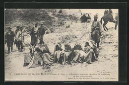 AK Campagne Du Maroc 1914, Colonne De Taza, Prisonniers Marocains - France