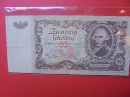 AUTRICHE 20 SCHILLING 1950 CIRCULER (B.10) - Austria
