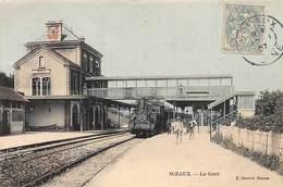 92 .n°  107933  .  Sceaux . Train .la Gare .vue Generale . - Sceaux