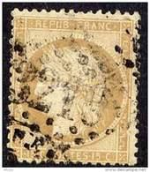 D233 YT 59 III République Var. 15 C Bistre GC 3210 Rosière De Picardie  Somme - 1871-1875 Cérès