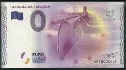 Billet Touristique 0 Euro 2015  Sous Marin L'Espadon  St Nazaire - Essais Privés / Non-officiels
