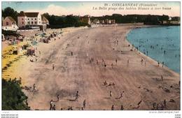CONCARNEAU - La Belle Plage Des Sables Blancs à Mer Basse.Carte écrite En 1938. 2scans - Concarneau