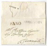 DA FANO A RECANATI - 3.7.1841. - Italia