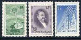 FINLAND 1955 Telegraph Centary Set MNH / **.  Michel 450-52 - Neufs
