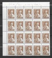 Russie  Bloc De 20 Du N° 1911 A   Savant  Neufs   * * TB= MNH VF    Soldé Moins Cher Du Site  ! ! ! - Unused Stamps