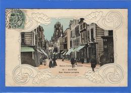 17 CHARENTE MARTIME - SAINTES Rue Alsace-Lorraine, Carte Gaufrée - Saintes