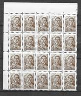 Russie  Bloc De 20 Du N° 2090 B Architecte  Neufs   * * TB= MNH VF    Soldé Moins Cher Du Site  ! ! ! - Unused Stamps