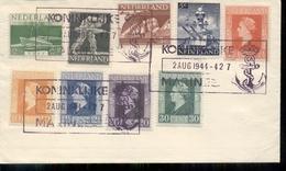 Nederlandse Marine - 1944 - Mengfrankering P - Postal Stationery